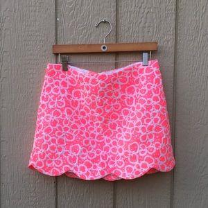 Lilly Pulitzer neon pink flower print skirt